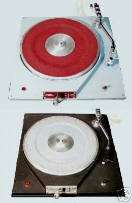 Russco Turntables - Slip Pad on top in red